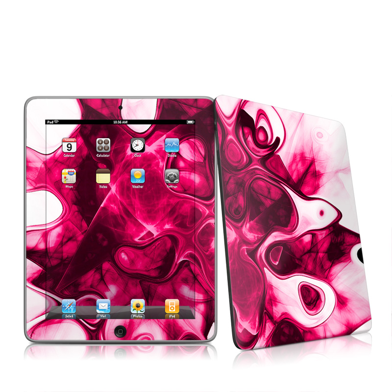 Pink Splatter Apple iPad 1st Gen Skin