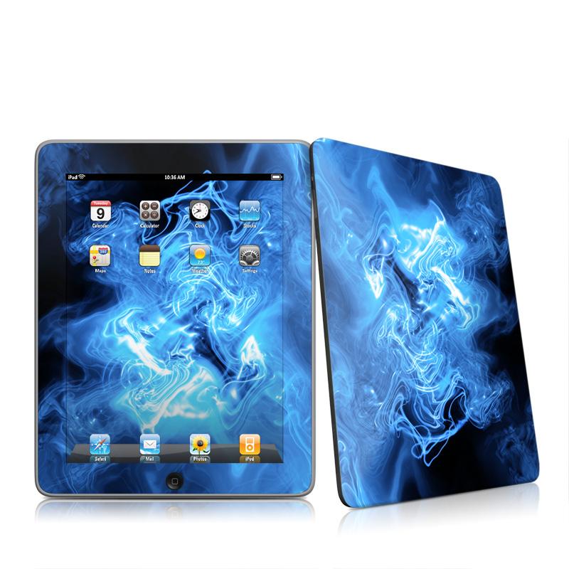 Blue Quantum Waves Apple iPad 1st Gen Skin