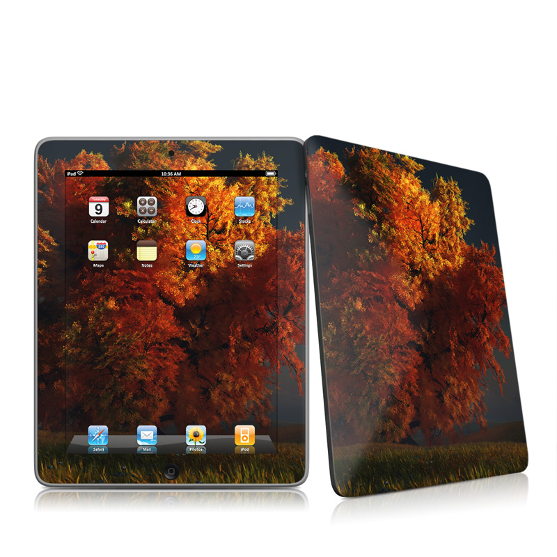 Red and Gold Apple iPad 1st Gen Skin
