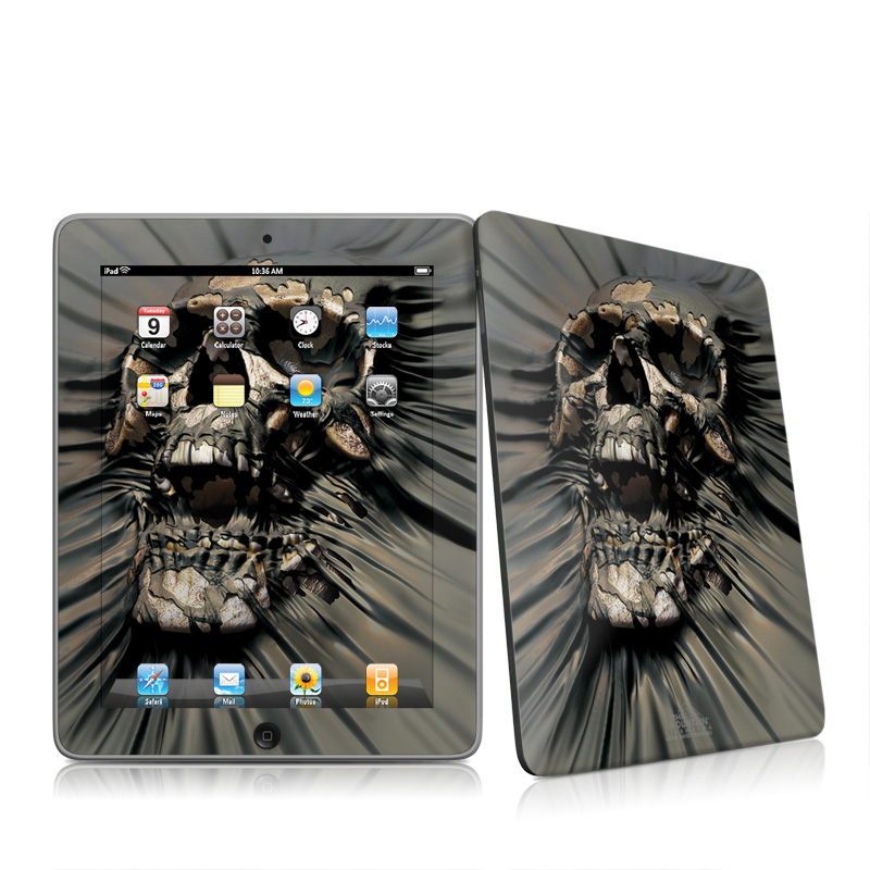 iPad 1st Gen Skin design of Cg artwork, Fictional character, Illustration, Demon, Fiction, Supervillain, Mythology, Art with black, green, gray, red colors