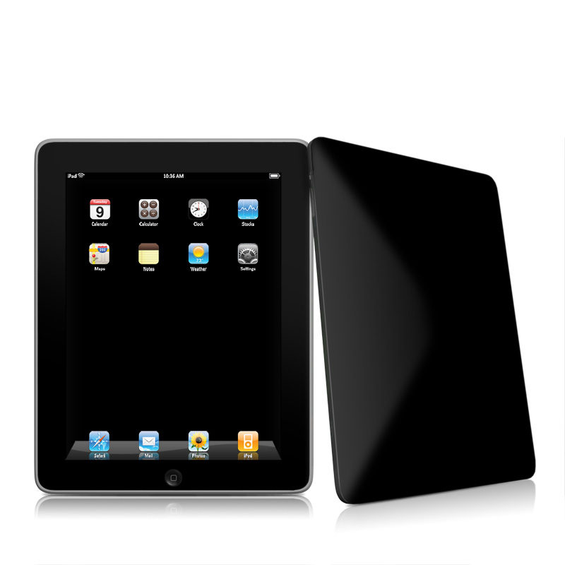 Solid State Black Apple iPad 1st Gen Skin