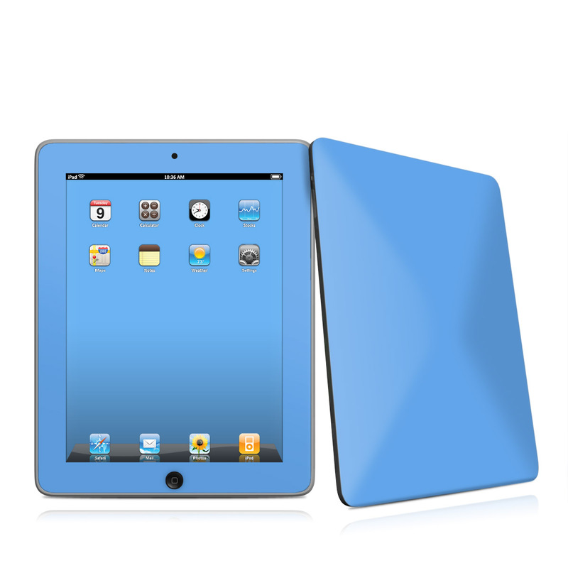 Solid State Blue iPad 1st Gen Skin