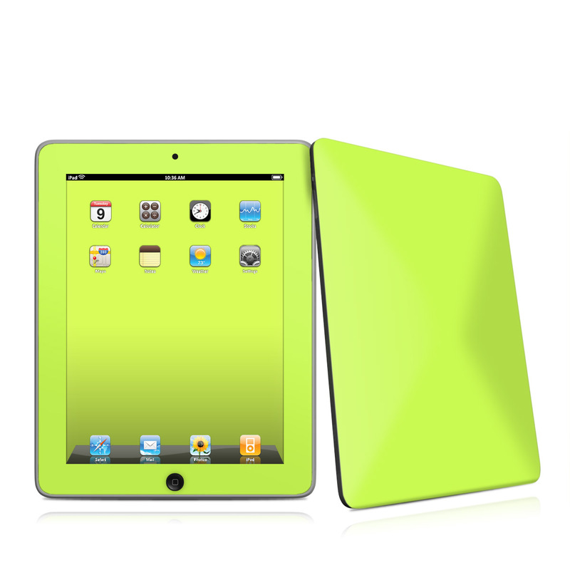 Solid State Lime Apple iPad 1st Gen Skin