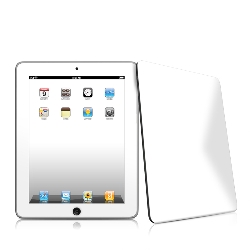 Solid State White Apple iPad 1st Gen Skin