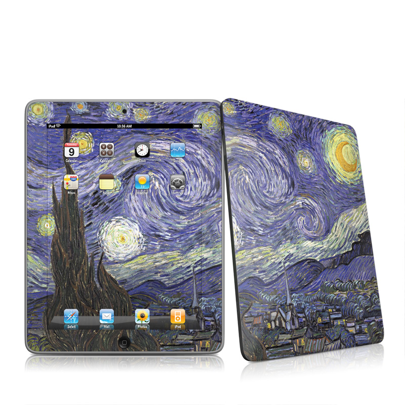 Starry Night Apple iPad 1st Gen Skin