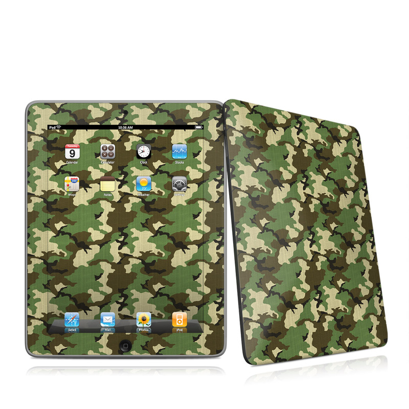 Woodland Camo Apple iPad 1st Gen Skin