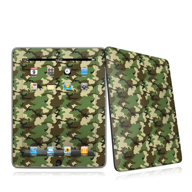 Woodland Camo iPad 1st Gen Skin