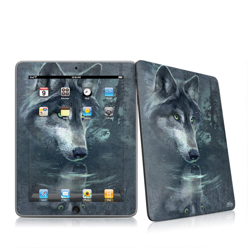Wolf Reflection Apple iPad 1st Gen Skin