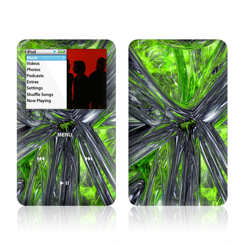 iPod classic Skin design of Green, Tree, Leaf, Plant, Grass, Terrestrial plant, Botany, Woody plant, Arecales, Vascular plant with green, gray, black colors