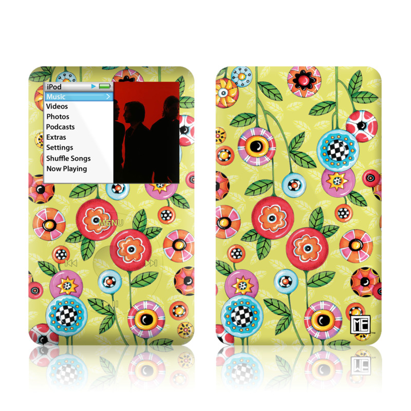 Button Flowers iPod classic Skin