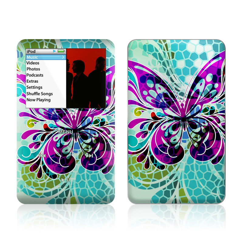 Butterfly Glass iPod classic Skin