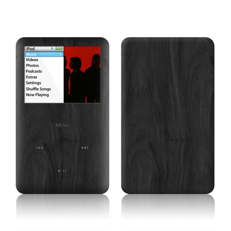 iPod classic Skin design of Black, Brown, Wood, Grey, Flooring, Floor, Laminate flooring, Wood flooring with black colors