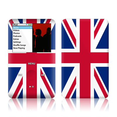 iPod classic Skin design with red, white, blue colors