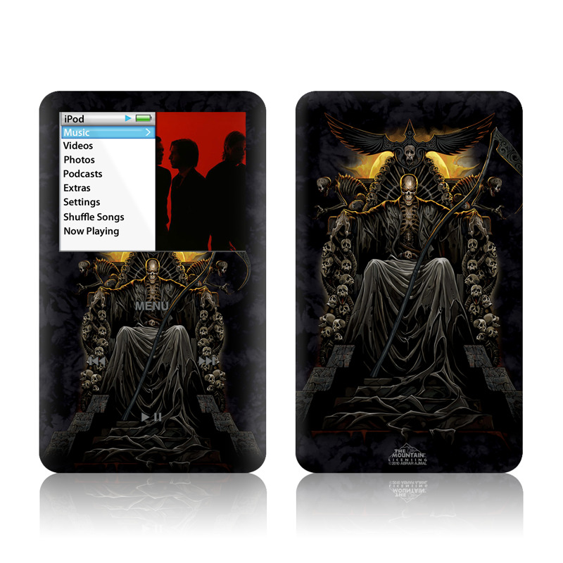 iPod classic Skin design of Demon, Cg artwork, Darkness, Mythology, Supernatural creature, Fictional character, Art, Illustration with black, green, red colors