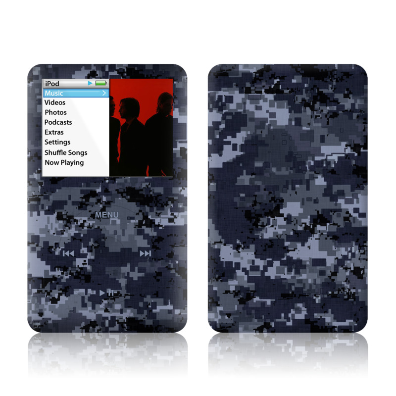 Digital Navy Camo iPod classic Skin