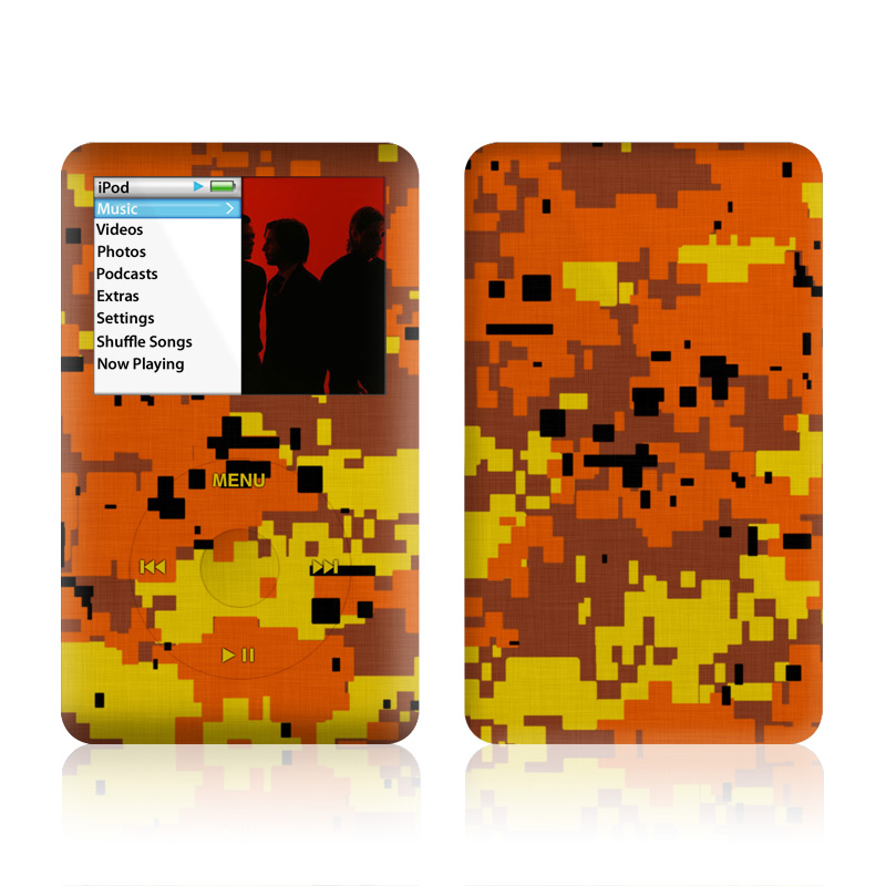 Digital Orange Camo iPod classic Skin