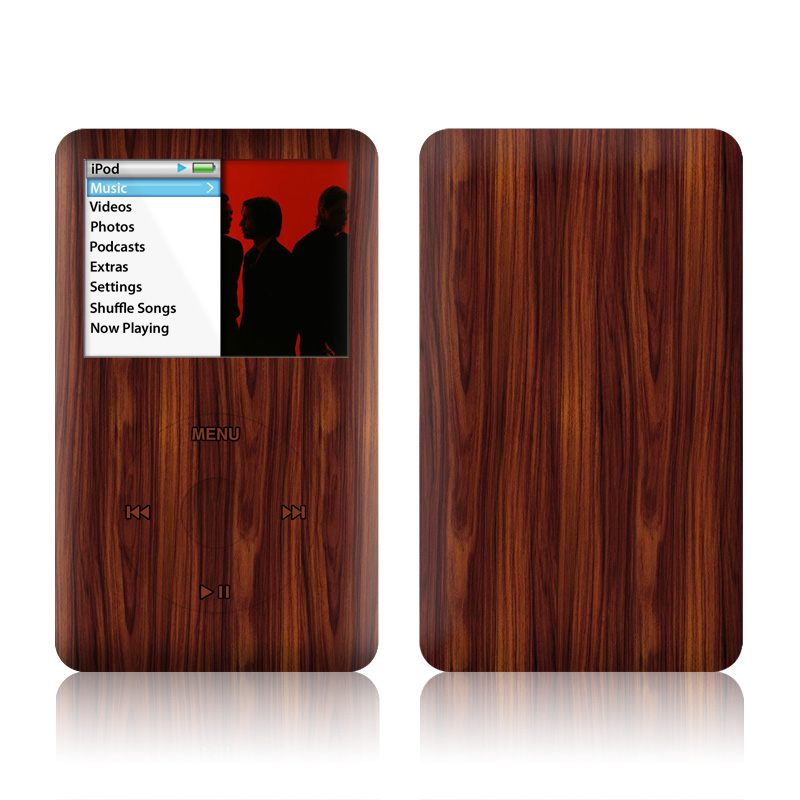 iPod classic Skin design of Wood, Red, Brown, Hardwood, Wood flooring, Wood stain, Caramel color, Laminate flooring, Flooring, Varnish with black, red colors