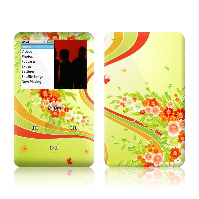 Flower Splash iPod classic Skin