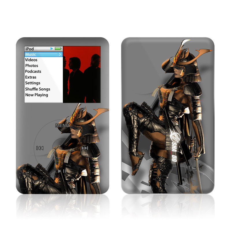 iPod classic Skin design of Cg artwork, Fictional character, Action figure with black, yellow, gray, white colors