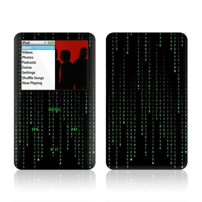 iPod classic Skin design of Green, Black, Pattern, Symmetry with black colors