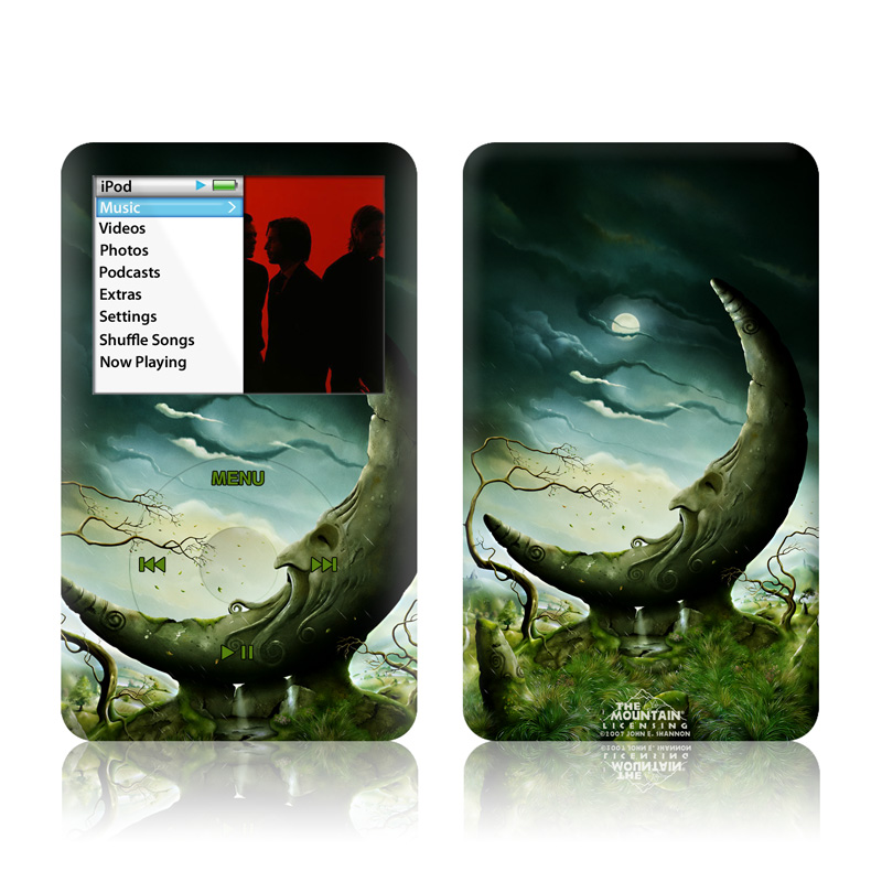 iPod classic Skin design of Nature, Water, Organism, Tree, Stock photography, Illustration, Photography, Earth, Fictional character, Cg artwork with black, gray, green colors