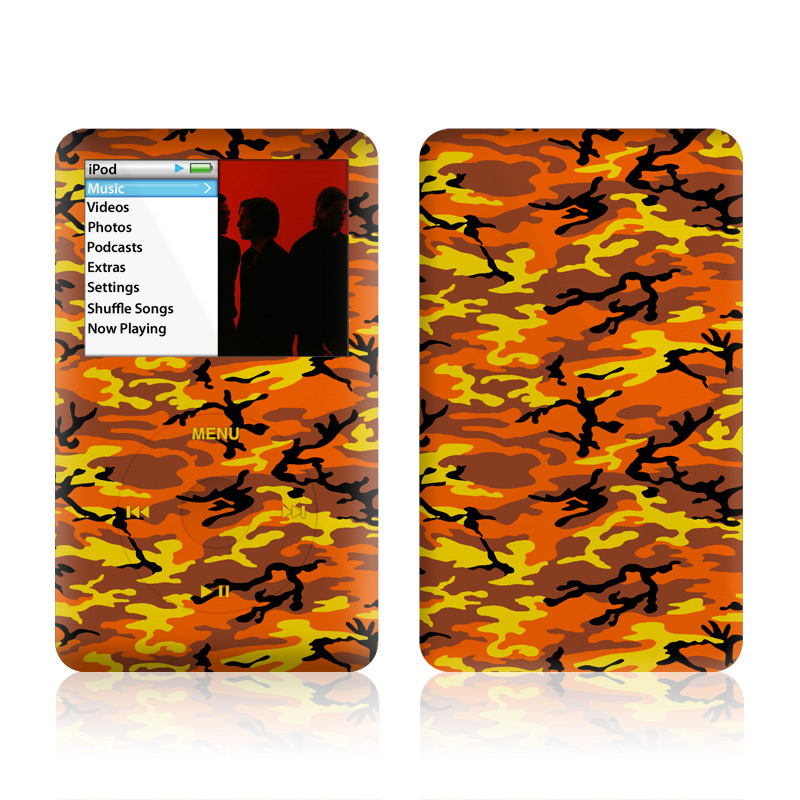 Orange Camo iPod classic Skin