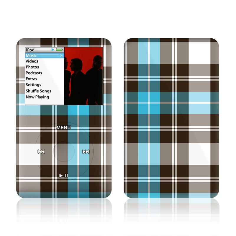 Turquoise Plaid iPod classic Skin