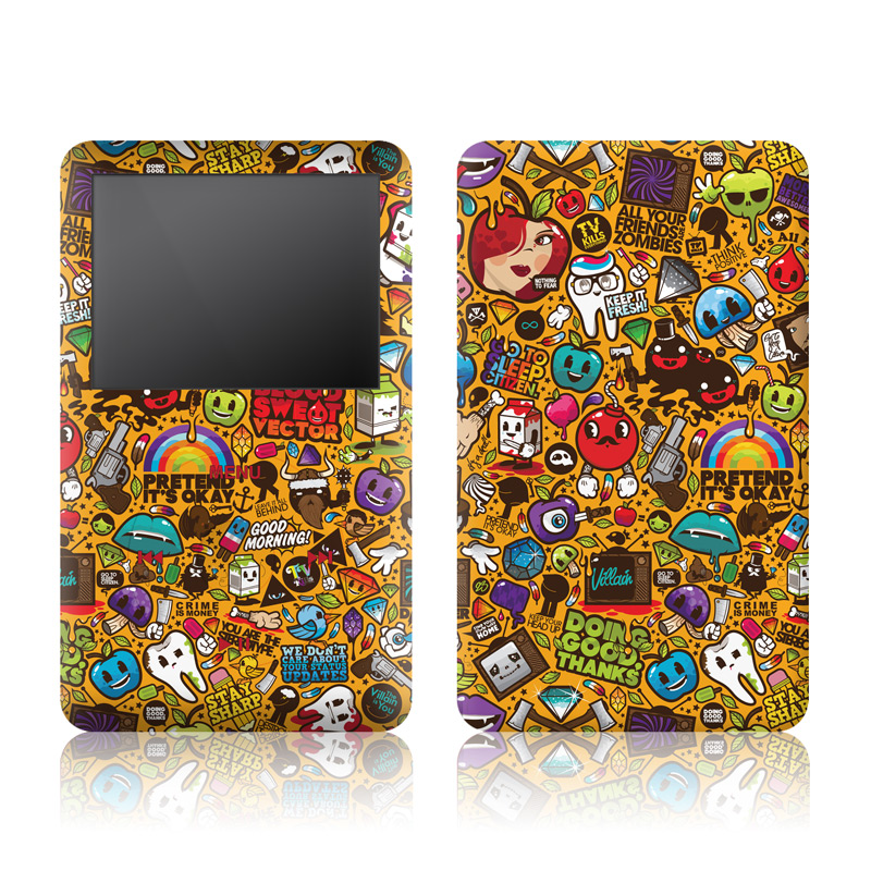 Psychedelic iPod classic Skin