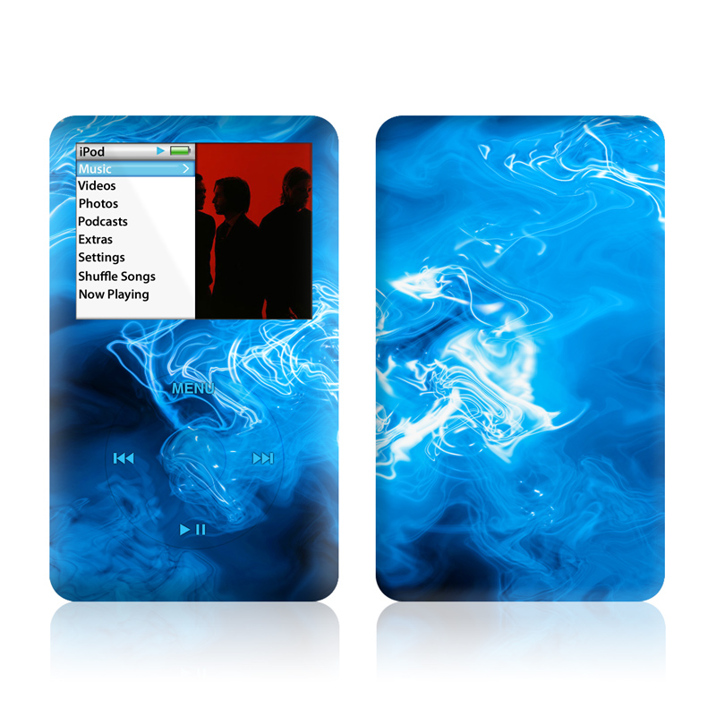 Blue Quantum Waves iPod classic Skin