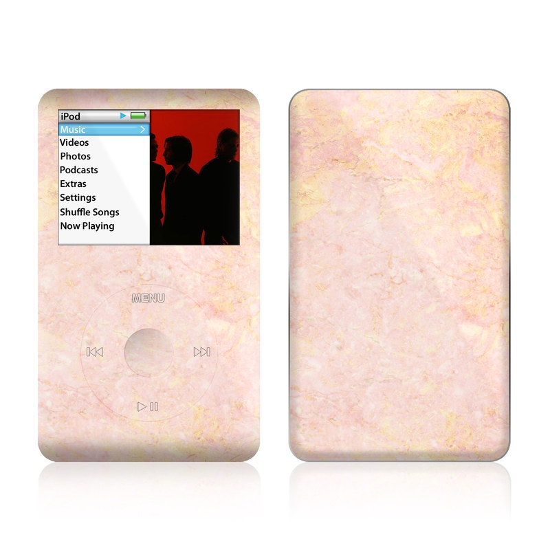 iPod classic Skin design of Pink, Peach, Wallpaper, Pattern with pink, yellow, orange colors