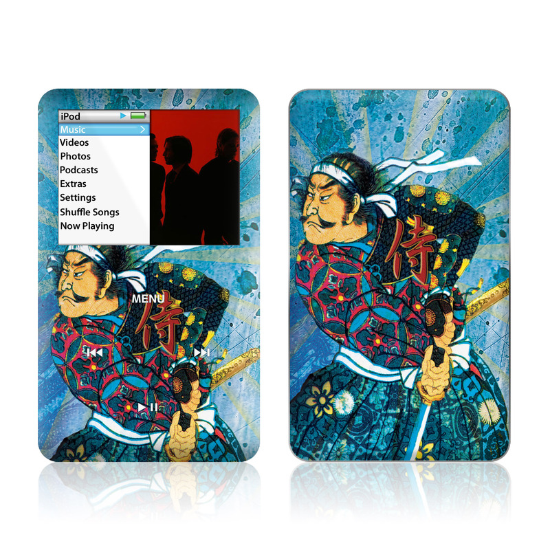 iPod classic Skin design of Art, Illustration, Painting with blue, black, gray, green, red colors
