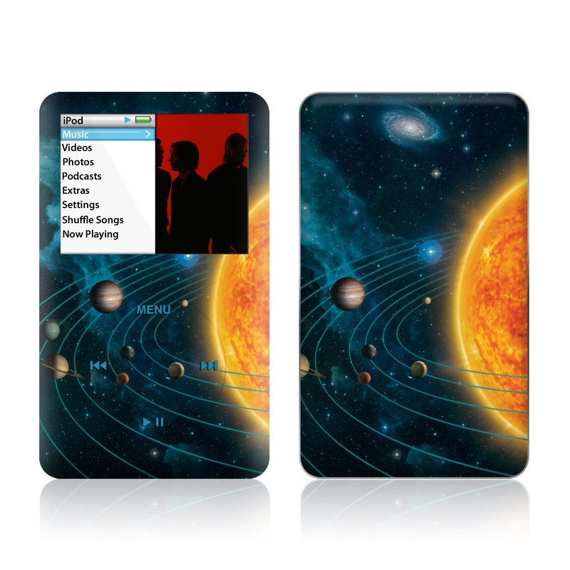 iPod classic Skin design of Astronomical object, Universe, Outer space, Galaxy, Astronomy, Atmosphere, Space, Planet, Science, Sky with red, yellow, black, blue, brown, white colors