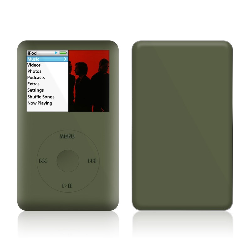 iPod classic Skin design of Green, Brown, Text, Yellow, Grass, Font, Pattern, Beige with green colors