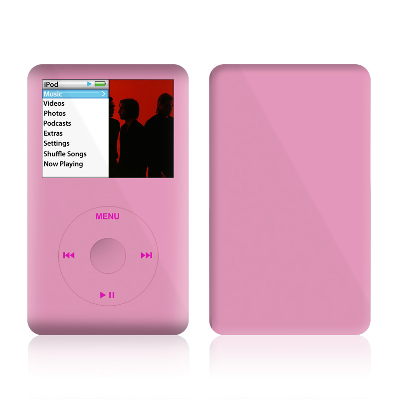 iPod classic Skin design of Pink, Violet, Purple, Red, Magenta, Lilac, Sky, Material property, Peach with pink colors