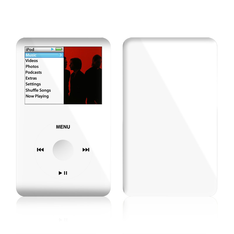 Solid State White iPod classic Skin