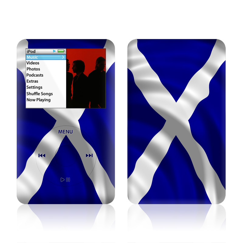 iPod classic Skin design of Flag, Blue, Cobalt blue, Electric blue, Gesture, Flag of the united states with blue, gray, black, white colors