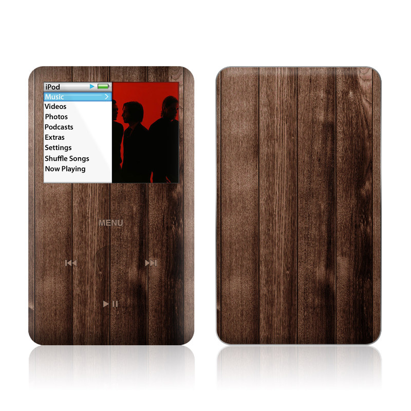 Stained Wood iPod classic Skin