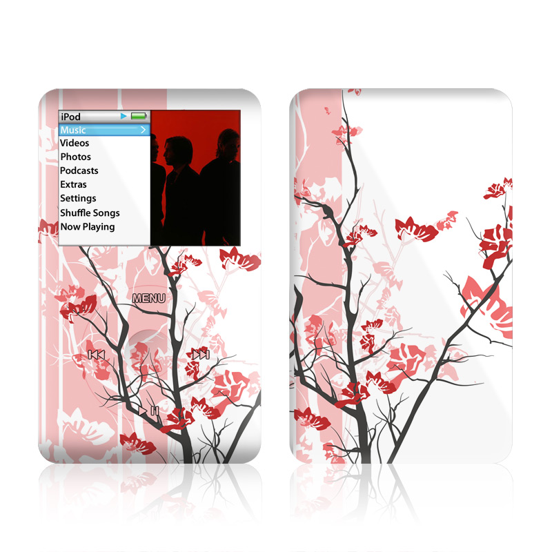 iPod classic Skin design of Branch, Red, Flower, Plant, Tree, Twig, Blossom, Botany, Pink, Spring with white, pink, gray, red, black colors
