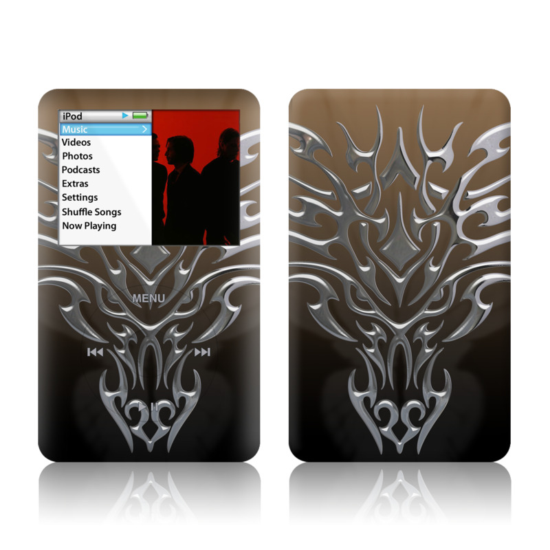 Tribal Dragon Chrome iPod classic Skin