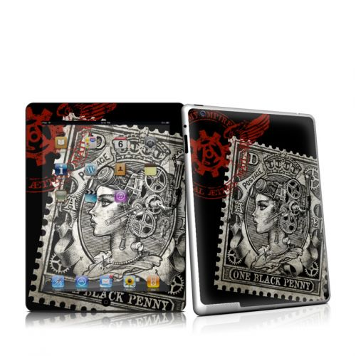 Black Penny iPad 2 Skin