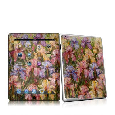 Field Of Irises iPad 2 Skin