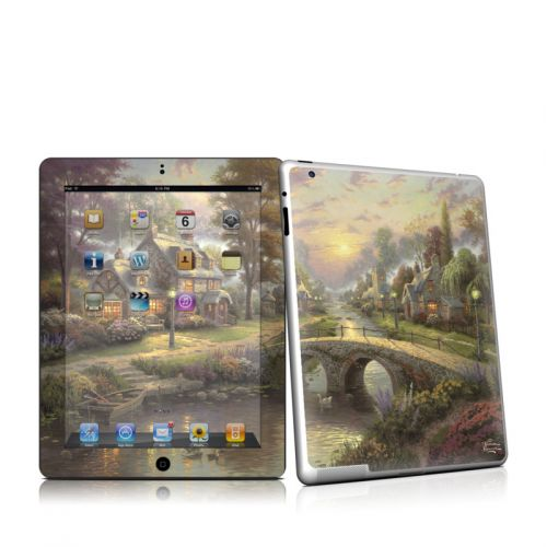 Sunset On Lamplight Lane iPad 2nd Gen Skin