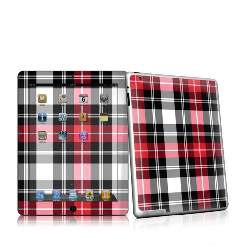 Red Plaid iPad 2 Skin