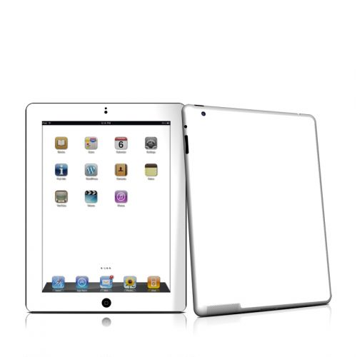 Solid State White iPad 2nd Gen Skin