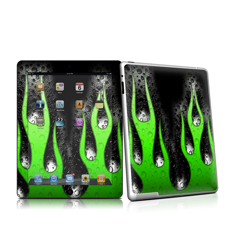 Acid Flames iPad 2nd Gen Skin