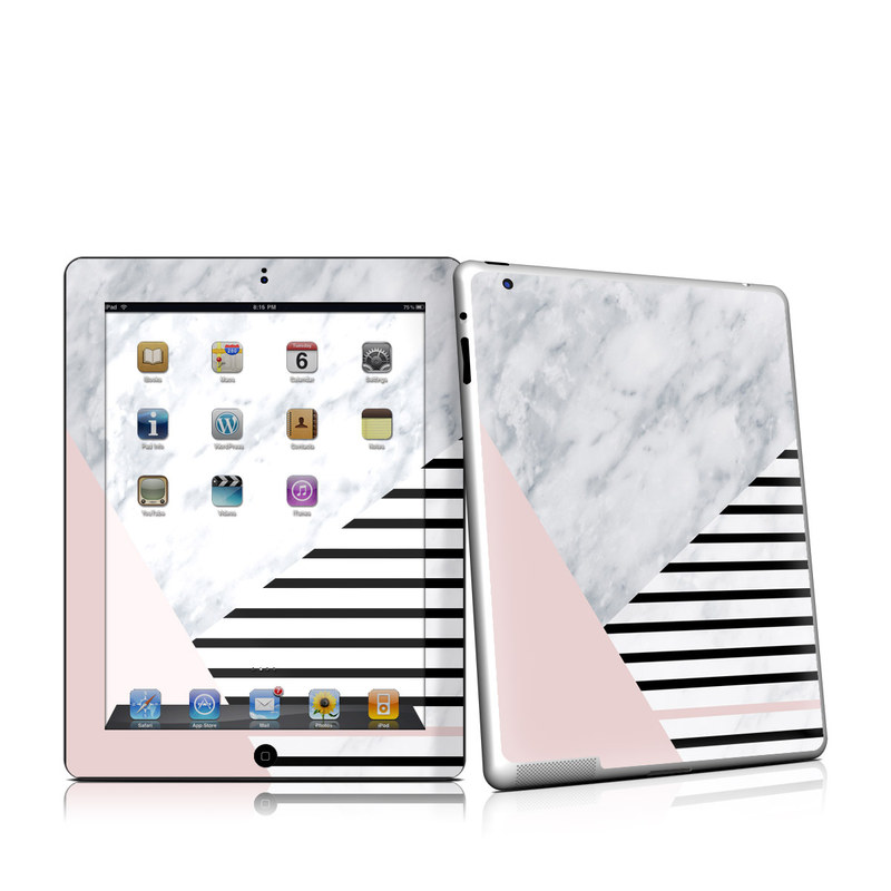 iPad 2nd Gen Skin design of White, Line, Architecture, Stairs, Parallel with gray, black, white, pink colors