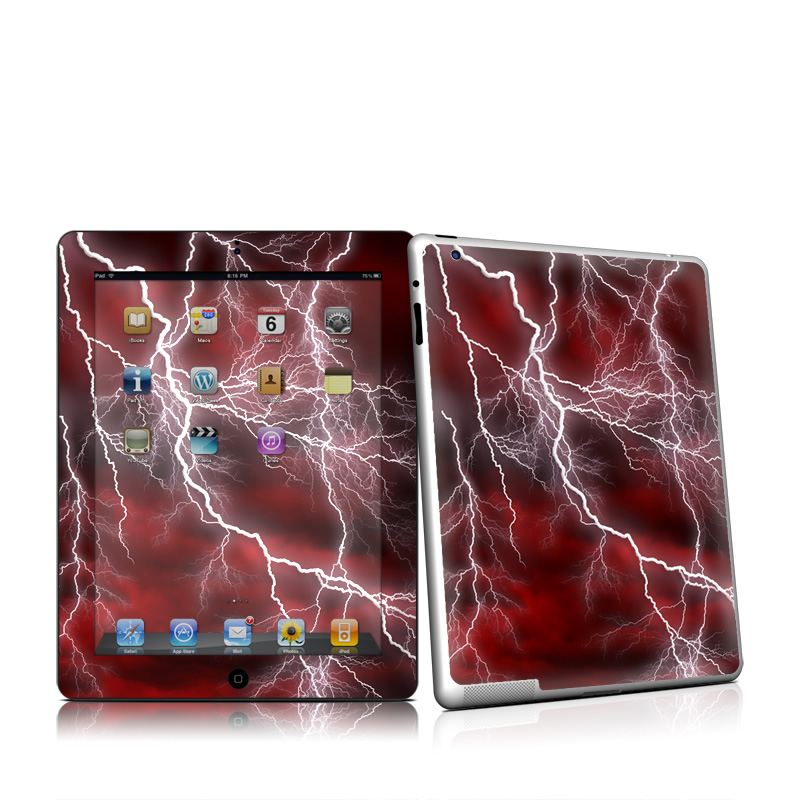 Apocalypse Red iPad 2nd Gen Skin