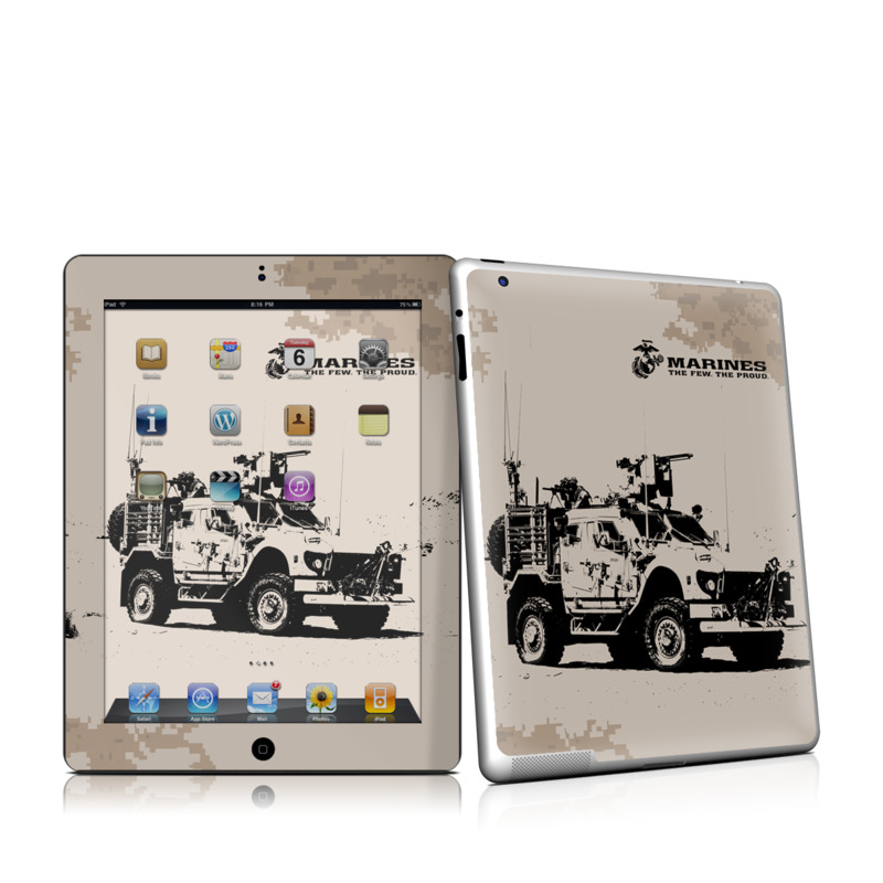iPad 2nd Gen Skin design of Vehicle, Car, Armored car, Mode of transport, Off-road vehicle, Military vehicle, Jeep, Truck with brown, black colors