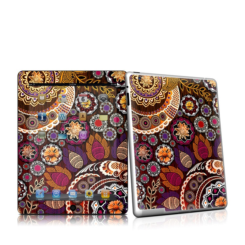 Autumn Mehndi iPad 2 Skin