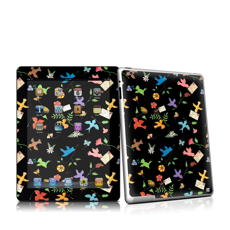 iPad 2nd Gen Skin design of Pattern, Design, Textile, Graphic design with black, yellow, red, blue, green colors